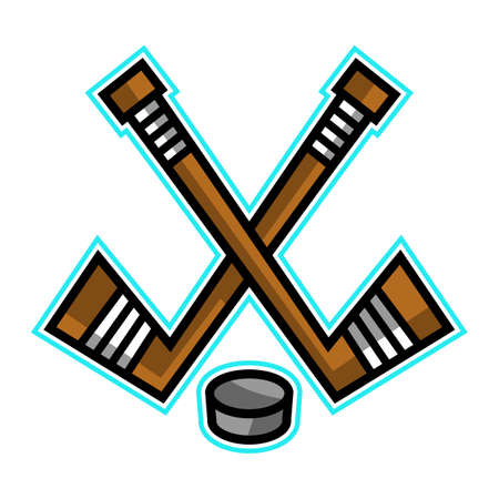 Hockey Stick & Puck vector design
