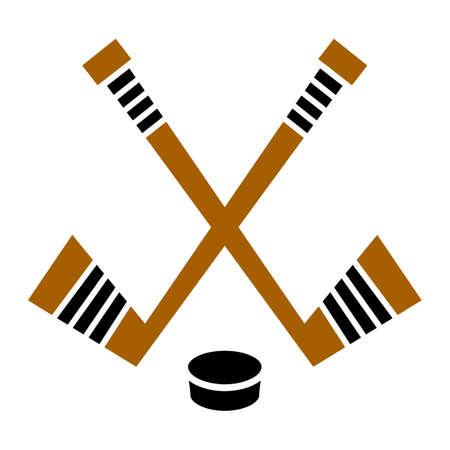 Hockey Stick & Puck vector design