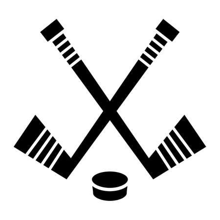 the puck: Hockey Stick & Puck vector design