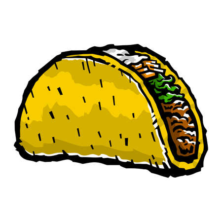 ground beef: Taco vector illustration Illustration