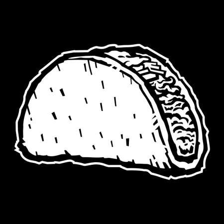 Taco vector illustration Çizim