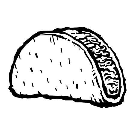 Taco vector illustration Illustration