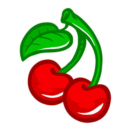 Cherry Fruit Vector Icon Ilustração