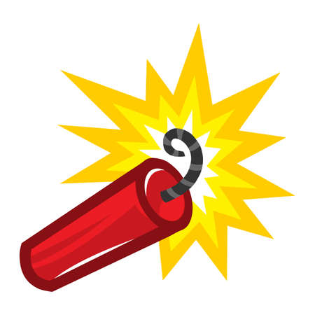 Dynamite Stick Explosive vector icon