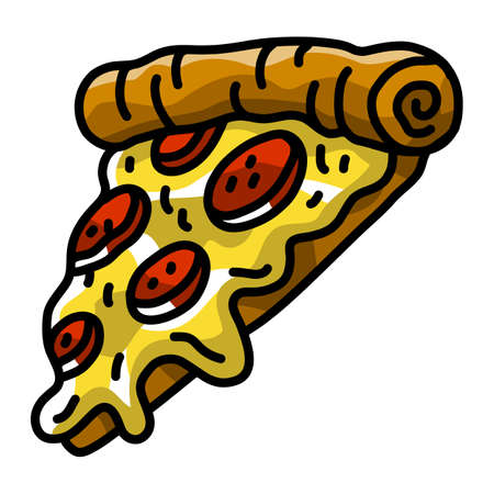 Pizza Slice vector icon Illustration