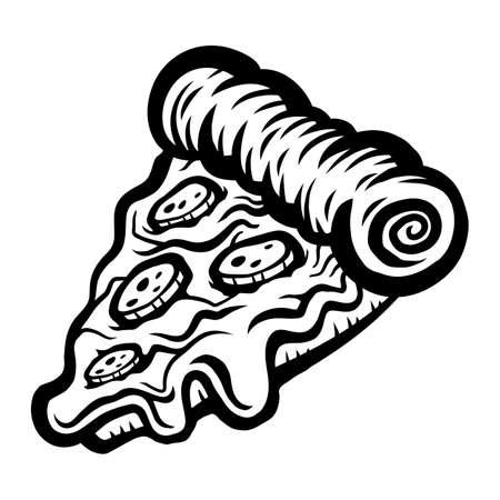 Pizza Slice vector icon Illustration