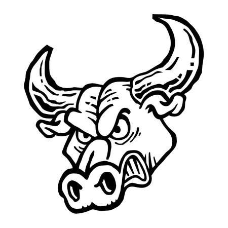 angry bull: Angry Bull vector icon