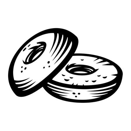 Bagel vector icon