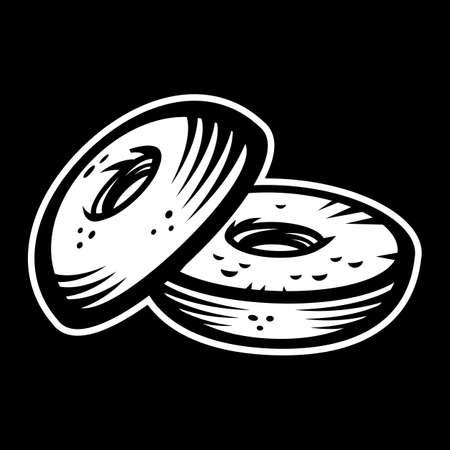 bagels: Bagel vector icon