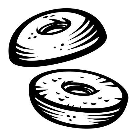 Bagel vector icon