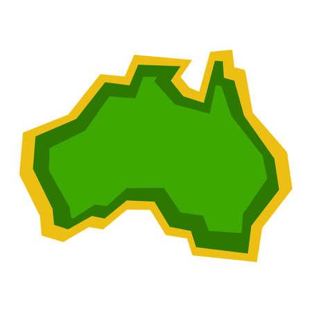 Australia Map Geography Shape vector icon