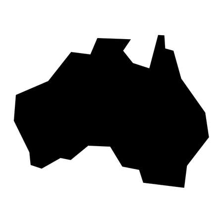 geography: Australia Map Geography Shape vector icon