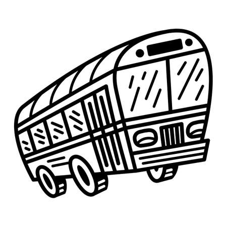 City Bus Transit Vehicle vector icon Ilustracja