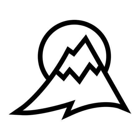 Mountain Range vector icon