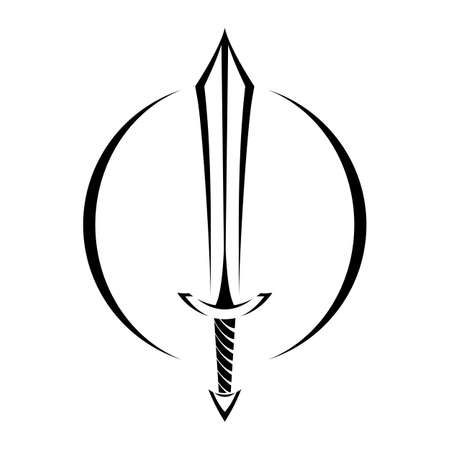 メタル剣ベクトル漫画アイコン