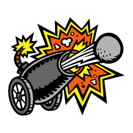 Krieg Kanone abfeuern Kanonen