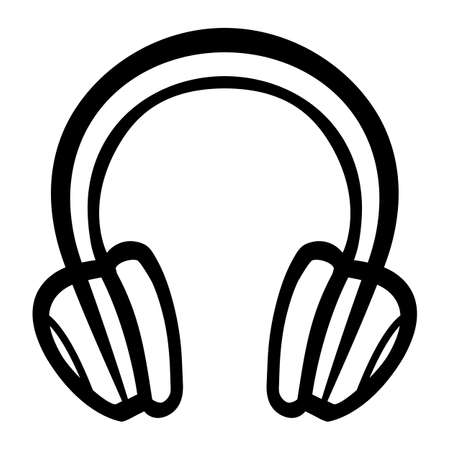 the accessory: Headphones Music Accessory vector icon