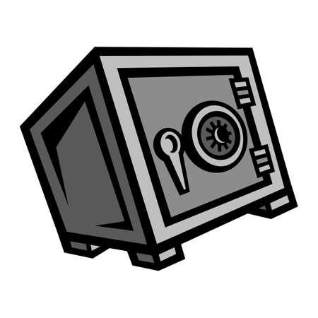 Metal Security Safe Lock vector icon Illusztráció