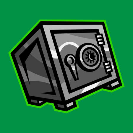 Metal Security Safe Lock vector icon
