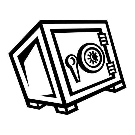 safe lock: Metal Security Safe Lock vector icon Illustration