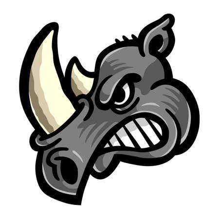 Rhino Horns Animal Cartoon vector icon