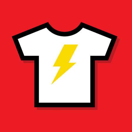 rayo electrico: Camiseta eléctrica del rayo