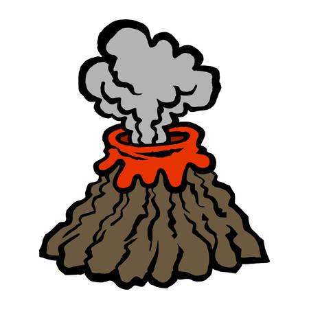 火山  イラスト・ベクター素材