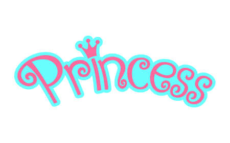 royal person: Pink Girly Princess Logo Text Graphic With Crown