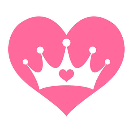 Pink Girly Princess Royalty Crown With Heart Jewels