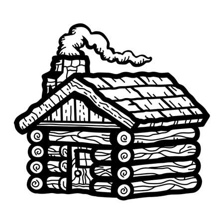 log: Log Cabin Illustration