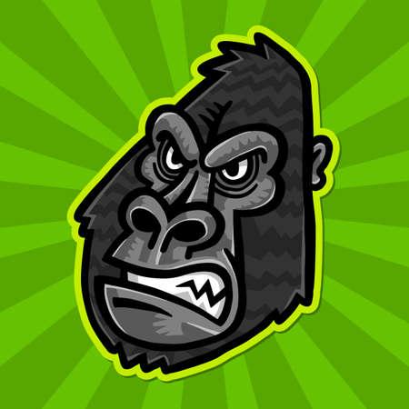 ape: Gorilla Ape Monkey Face Illustration