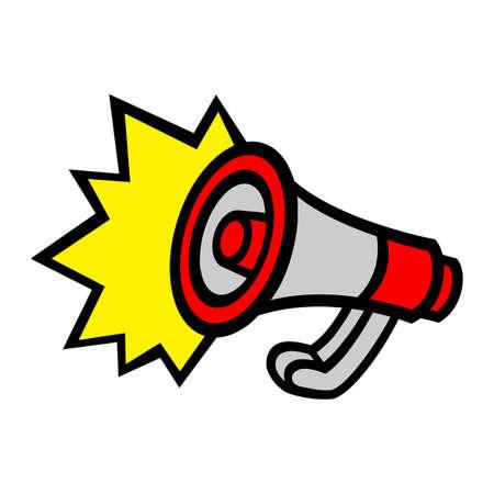 Megaphone Loudspeaker Bullhorn Announcement Alert Vettoriali