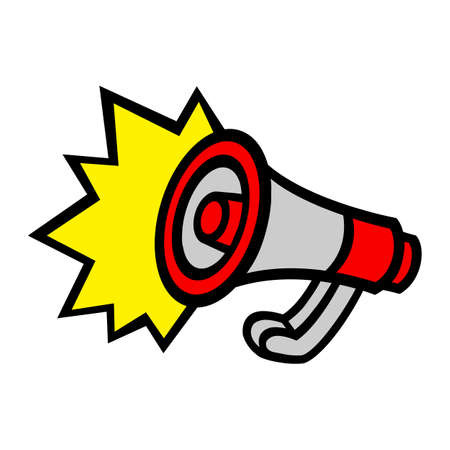 Megaphone Loudspeaker Bullhorn Announcement Alert Illustration