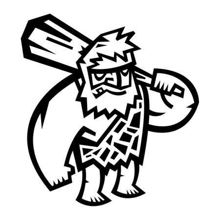 caveman cartoon: Caveman cartoon vector