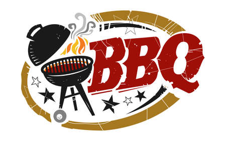 BBQ Grill ikon wektorowych