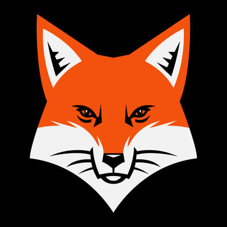 Fox face vector icon