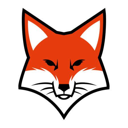 キツネ顔のロゴのベクトルのアイコン 写真素材 - 62039804