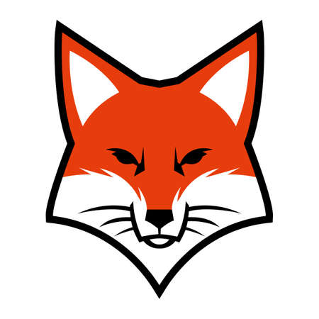 fox face: Fox face logo vector icon