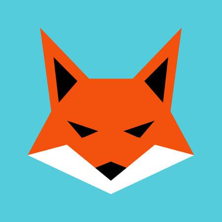 foxy: Fox face vector icon