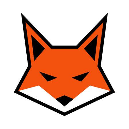 Fox visage logo vecteur icône Banque d'images - 62039805