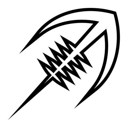 Stylized American Football logo vector icon Çizim