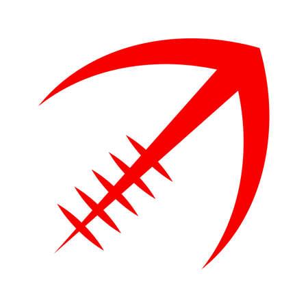 Stylized American Football logo vector icon Illustration