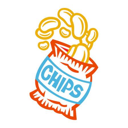 감자 칩의 가방 스톡 콘텐츠 - 67089239