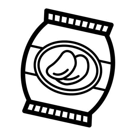 감자 칩의 가방 스톡 콘텐츠 - 67014150
