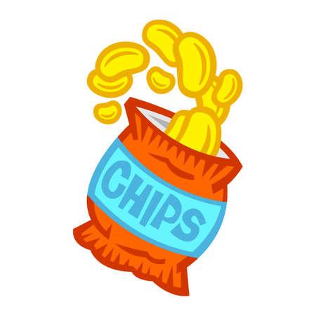 Bag of Potato Chips Imagens - 66436474
