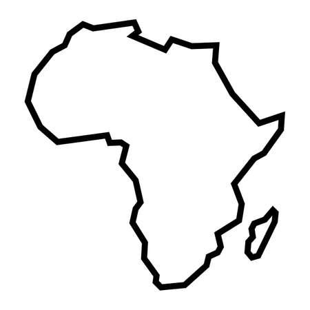 Szczegółowa mapa kontynentu Afryki