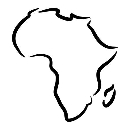 cartography: Detailed Map of Africa Continent