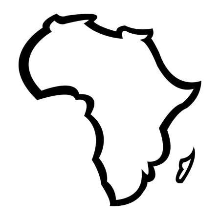 Carte détaillée de l'Afrique Continent Banque d'images - 66436203