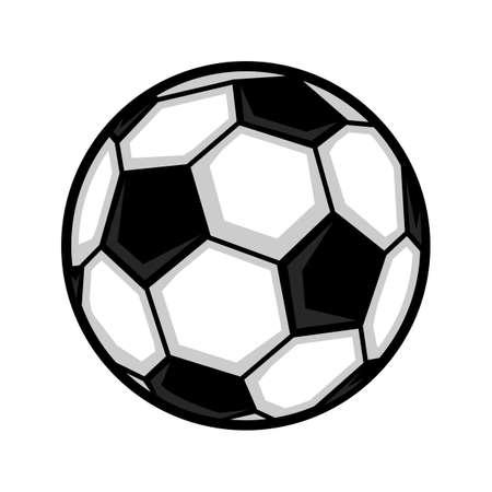 Icona di vettore di pallone da calcio Archivio Fotografico - 66435331
