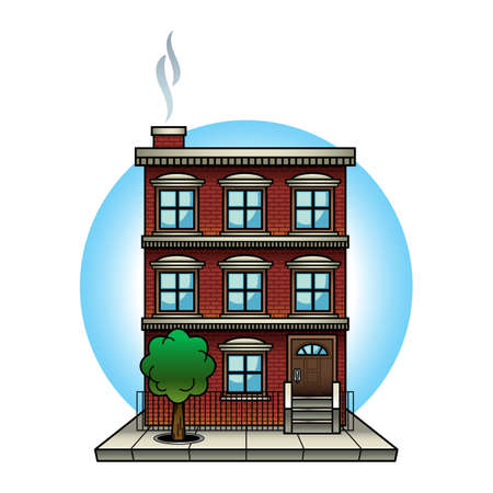 Apartment building vector